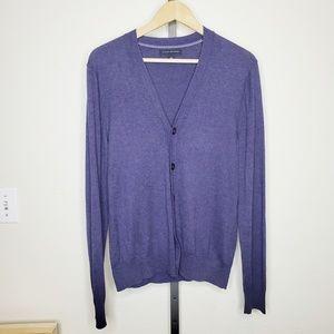 Banana Republic Silk & Cashmere Purple Cardigan